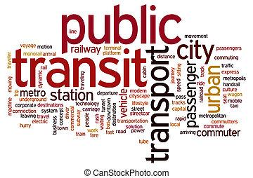 transito, parola, pubblico, nuvola