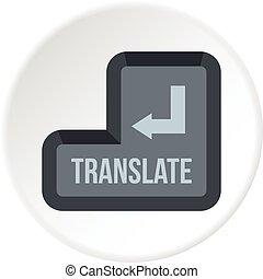 Translate button icon circle