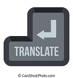 Translate button icon, flat style