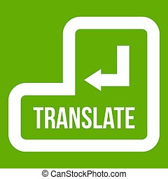 Translate button icon green