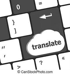 Translate enter button on computer keyboard keys