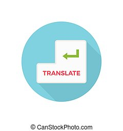 translate  flat color icon