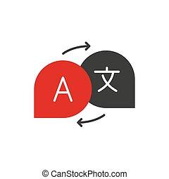Translate flat icon on white background. Vector illustration.