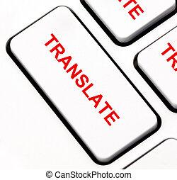 Translate keyboard key