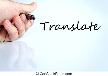 Translate text concept