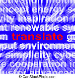 Translate Word Means Converting To Another Language -...