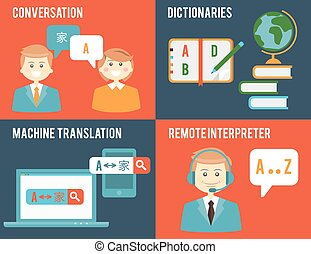 Translation and dictionary concepts in flat style -...