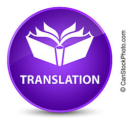 Translation elegant purple round button
