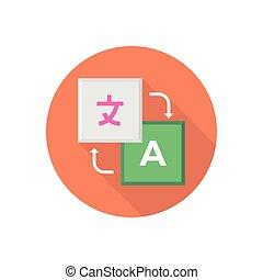 translation  flat color icon