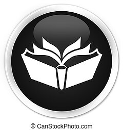 Translation icon black glossy round button