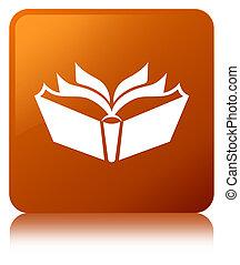 Translation icon brown square button