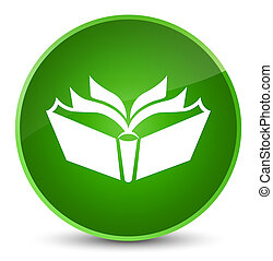 Translation icon elegant green round button