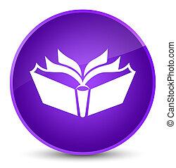 Translation icon elegant purple round button