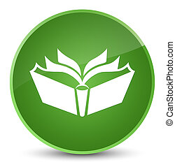 Translation icon elegant soft green round button