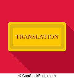 Translation icon, flat style