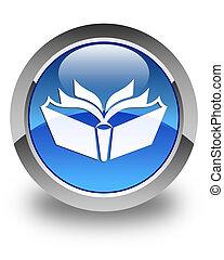 Translation icon glossy blue round button