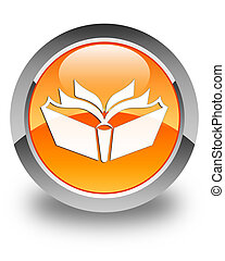 Translation icon glossy orange round button