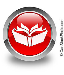 Translation icon glossy red round button
