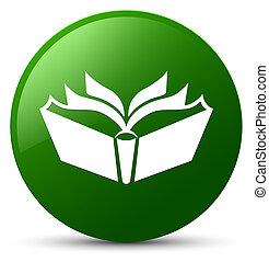 Translation icon green round button