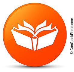 Translation icon orange round button
