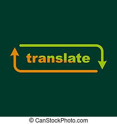 Translation icon, outline style