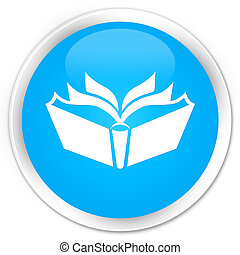 Translation icon premium cyan blue round button