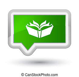 Translation icon prime green banner button