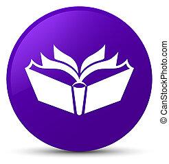 Translation icon purple round button
