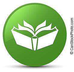 Translation icon soft green round button