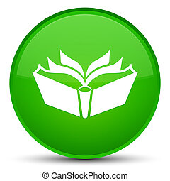 Translation icon special green round button