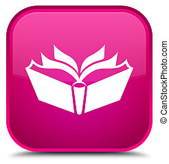 Translation icon special pink square button