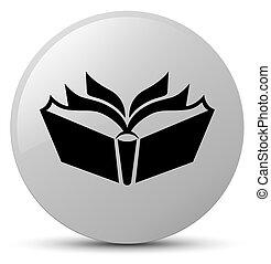 Translation icon white round button