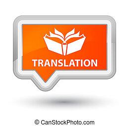 Translation prime orange banner button