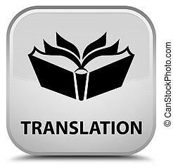 Translation special white square button