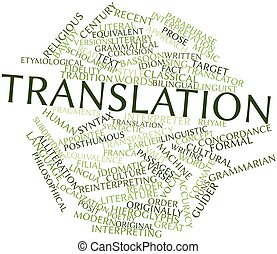 Translation - Abstract word cloud for Translation with...