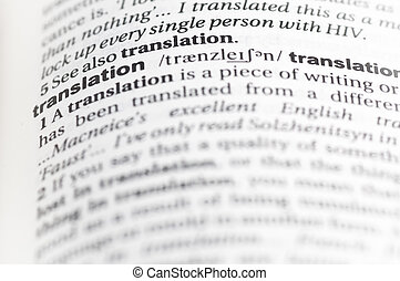 """Translation - Entry for """"translation"""" in an English..."""