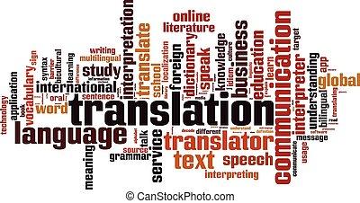 Translation word cloud concept. Vector illustration
