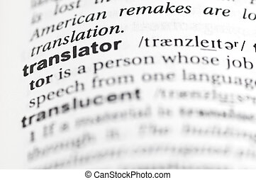 """Translator - Entry for """"translator"""" in an English dictionary"""