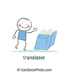 translator, leggere, libro