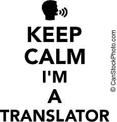 translator, pacata, mantenha