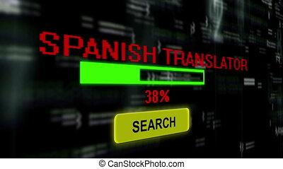 translator, recherche, espagnol, ligne
