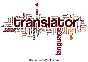 translator, szó, felhő
