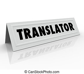 translator, tält kort, ord, utländsk, internationell, språk
