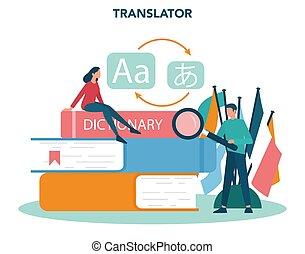 translator, tradurre, traduzione, concept., polyglot, ...
