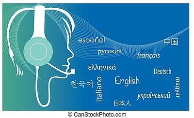 translator/multilingual, assistente