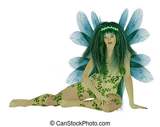 Translucent Blue Green Fairy