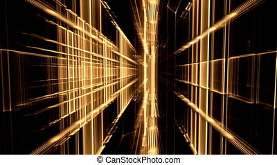 Translucent Cubical Horizon, Grid - Yellow vertical...