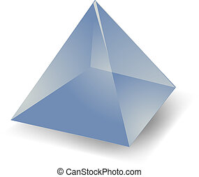 Translucent pyramid - Blank empty 3d translucent pyramid...