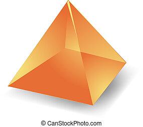Blank empty 3d translucent pyramid shape illustration