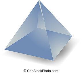 Translucent pyramid - Blank empty 3d translucent pyramid...